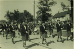 Marching through the streets of Wythenshawe in the sixties.